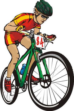 ciclista: bicicleta de montaña