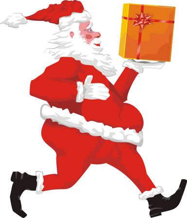 santa and christmas gift Stock Vector - 10674564