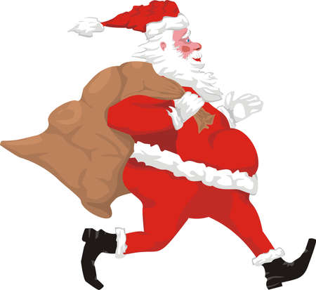running santa claus Stock Vector - 10674562