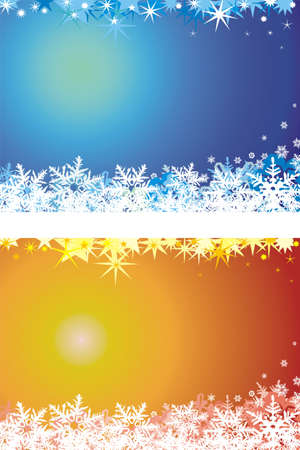 christmas background - blue and orange Stock Vector - 10878498