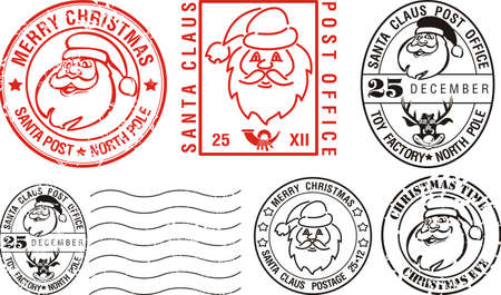 postmarks - merry christmas Stock Vector - 11210564
