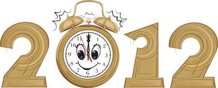 expire: 2012 - new year and alarm clock