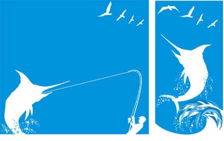 marlin: deep sea fishing - background