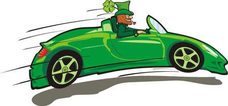 leprechaun: irish leprechaun - st. paddy`s day