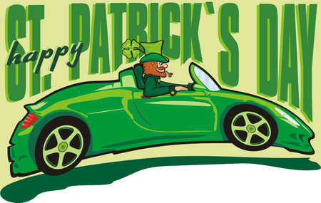 happy st. patrick`s day - leprechaun Ilustrace