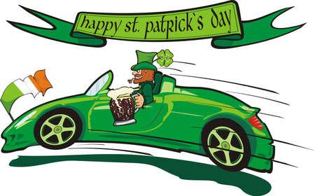 irland�s: leprechaun y st feliz. patrick `s