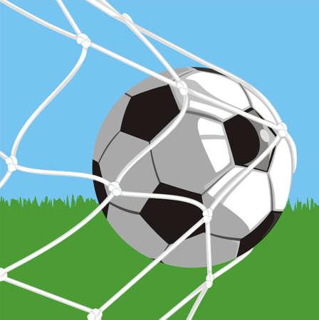 football net: ball in goal - football