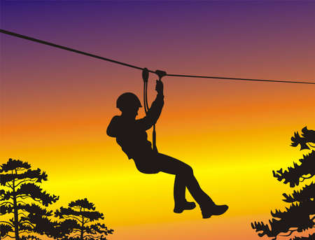 abseiling: rope park