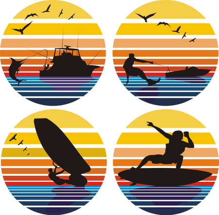 water sports and leisure Vector