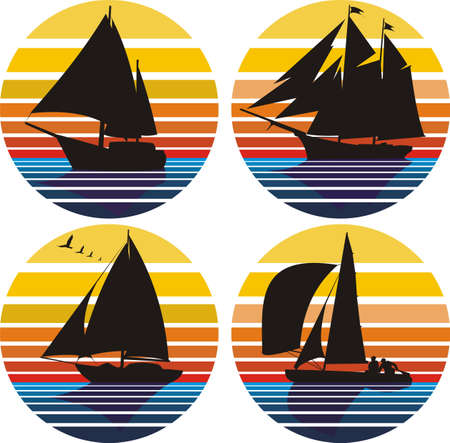 yachting and sailing Vector