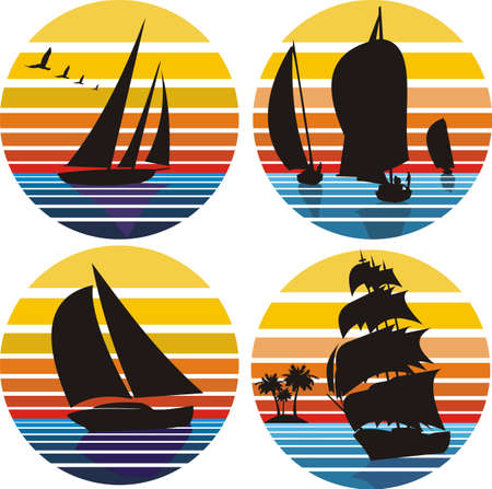 yachting, sailing, regatta Vector