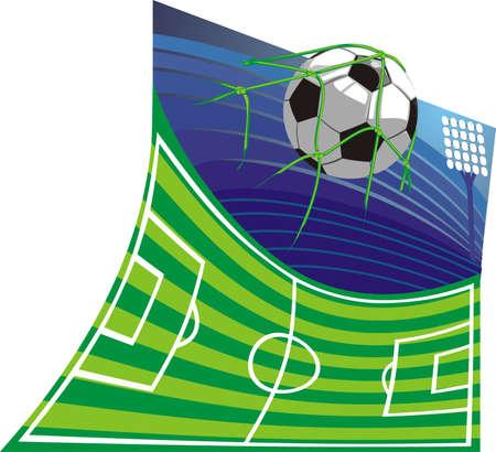football net: football stadium and football Illustration