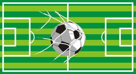 turf on the football field - shot on goal Stock Vector - 11812898