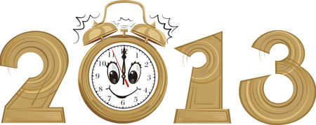 2013 - new year and alarm clock Vector