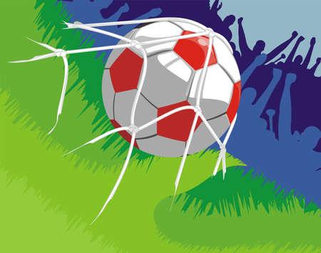 Football - la joie après le but marqué Banque d'images - 11944062