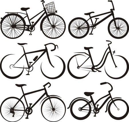 курьер: велосипед - силуэт и очертания Иллюстрация