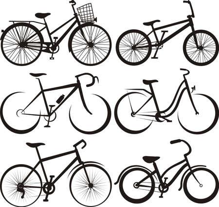 fiets: fiets - silhouet en de contouren