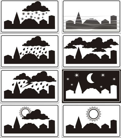windy city: weather signs - built-up area