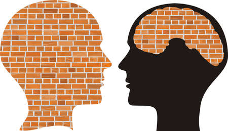 walled: head and brain of brick