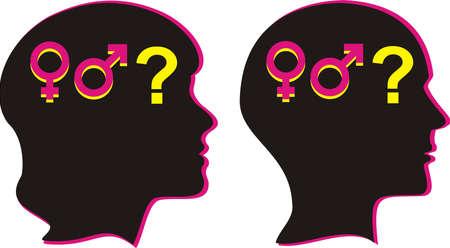 Genre humain - la sexualité Banque d'images - 12301785