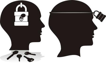 ignorance: limited mind Illustration