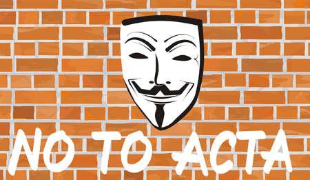 no to acta Stock Vector - 12301789