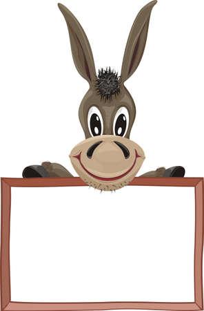 advisory: donkey and signboard