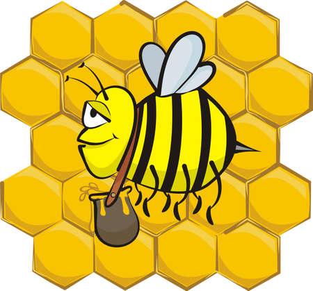 industrious  bee Vector