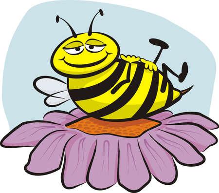 bee pollen: resting bee