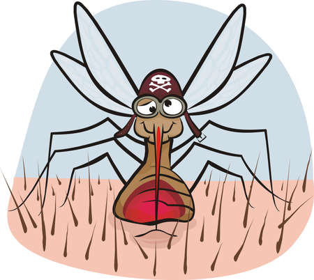 skin infections: mosquitos - chupar la sangre