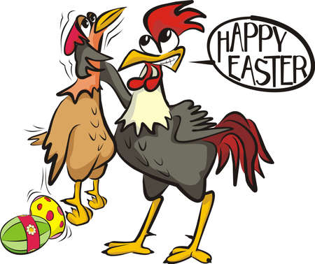 happy easter - angry cock Stock Vector - 12461771