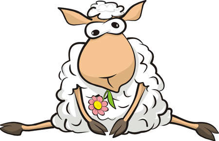 resting sheep Vector