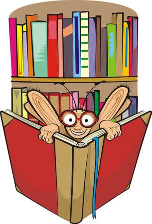 bücherwurm: B�cherwurm und Bibliothek