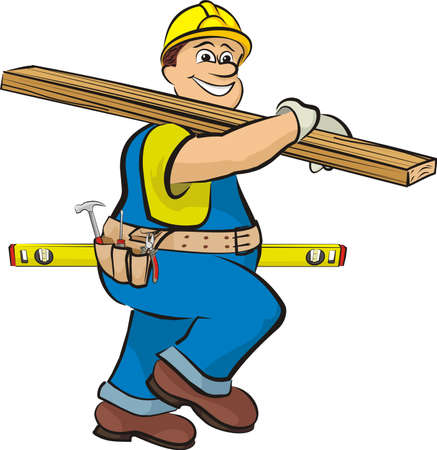 working belt: carpenter on the construction