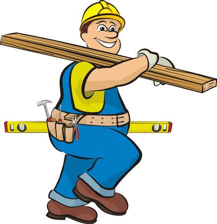 charpentier sur la construction
