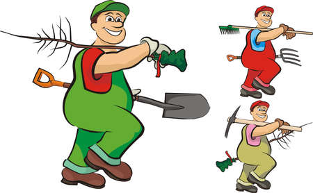 jardinero: jardinero industrioso