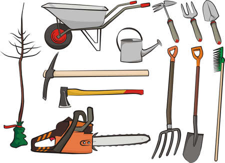 loosening: gardening tools Illustration