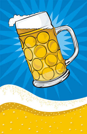 beer - mug and background Stock Vector - 12788532