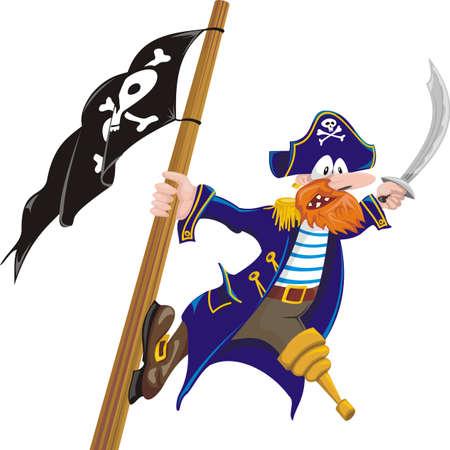 dreigende piraat
