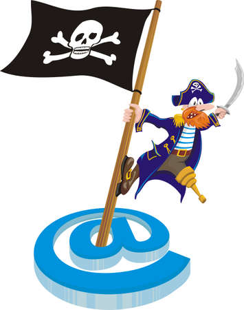 piracy - mail Vector