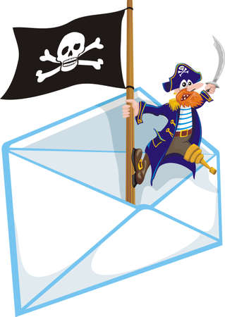 crippled: piracy - mailbox Illustration