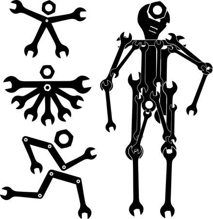 wrench man Vector