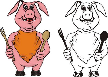 greedy: bon appetit  Illustration