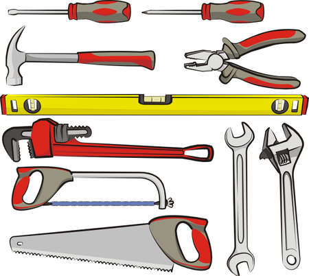 mechanic tools: hand tools Illustration