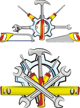 loodgieterswerk: tools - klusjesman Stock Illustratie