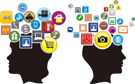 mind games: clave para la mente Vectores
