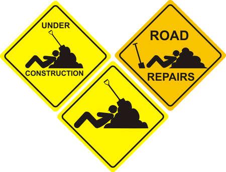 siesta: yellow road sign