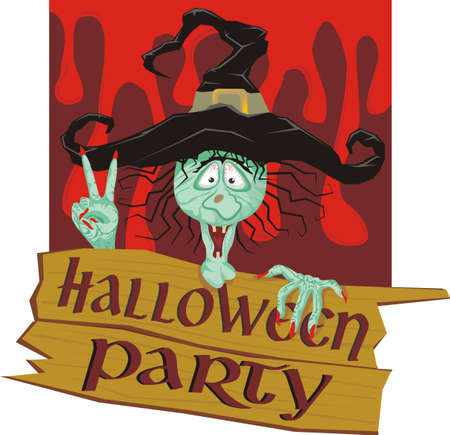invitation to a halloween party Stock Vector - 15525969