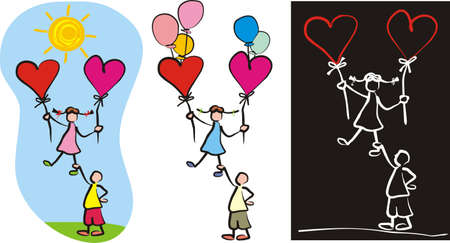 elation: love couple - child s drawing