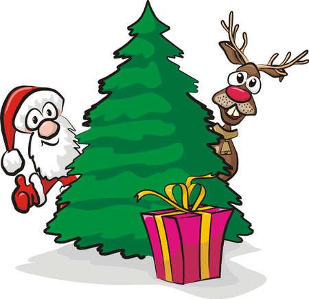christmas tree and gift Stock Vector - 15964072